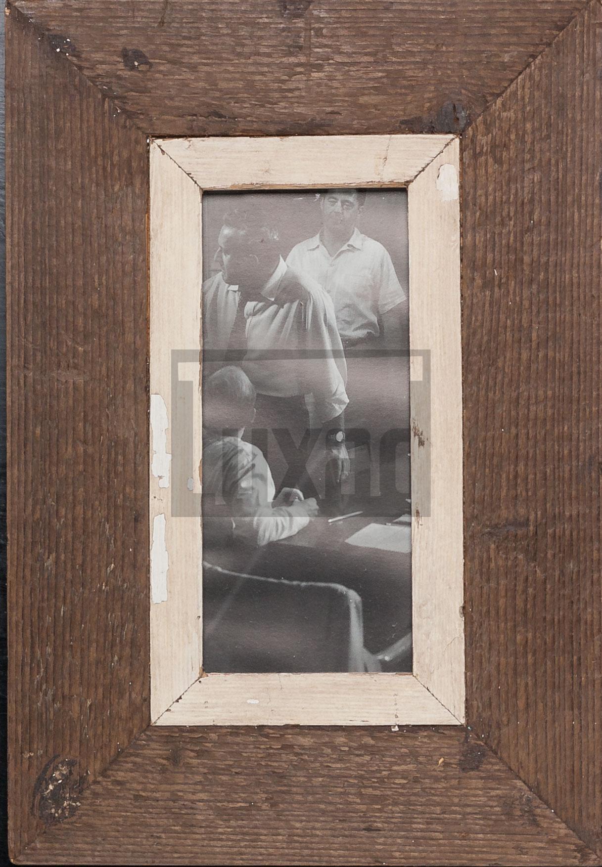 Panorama-Bilderrahmen aus altem Holz von der Luna Design Company