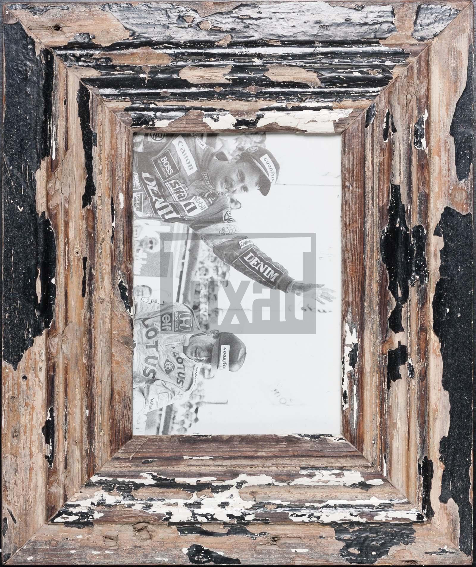 Wechselrahmen aus alten, breiten Holzleisten aus Südafrika