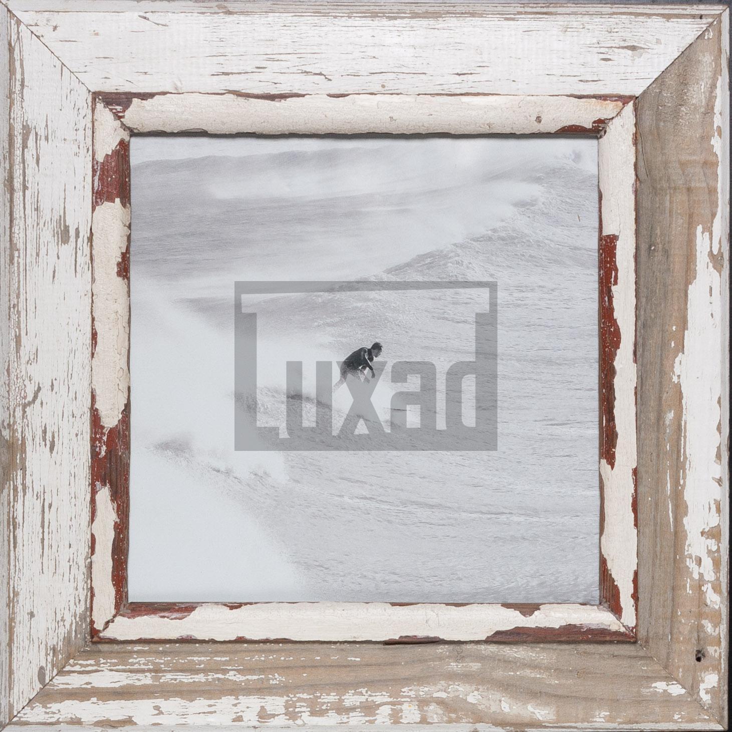 Quadratischer Bilderrahmen aus recyceltem Holz aus Südafrika