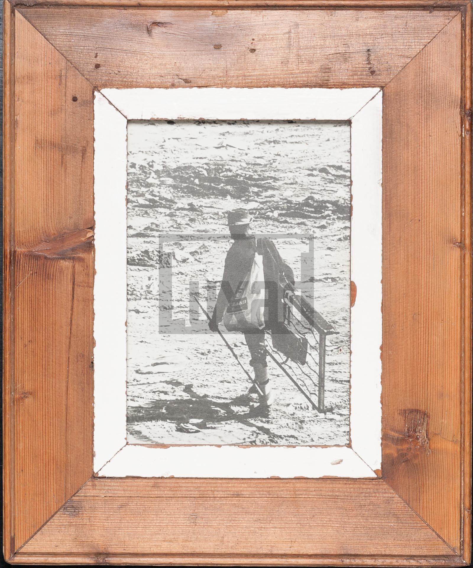 Vintage-Bilderrahmen aus altem Holz für Fotos DIN A5