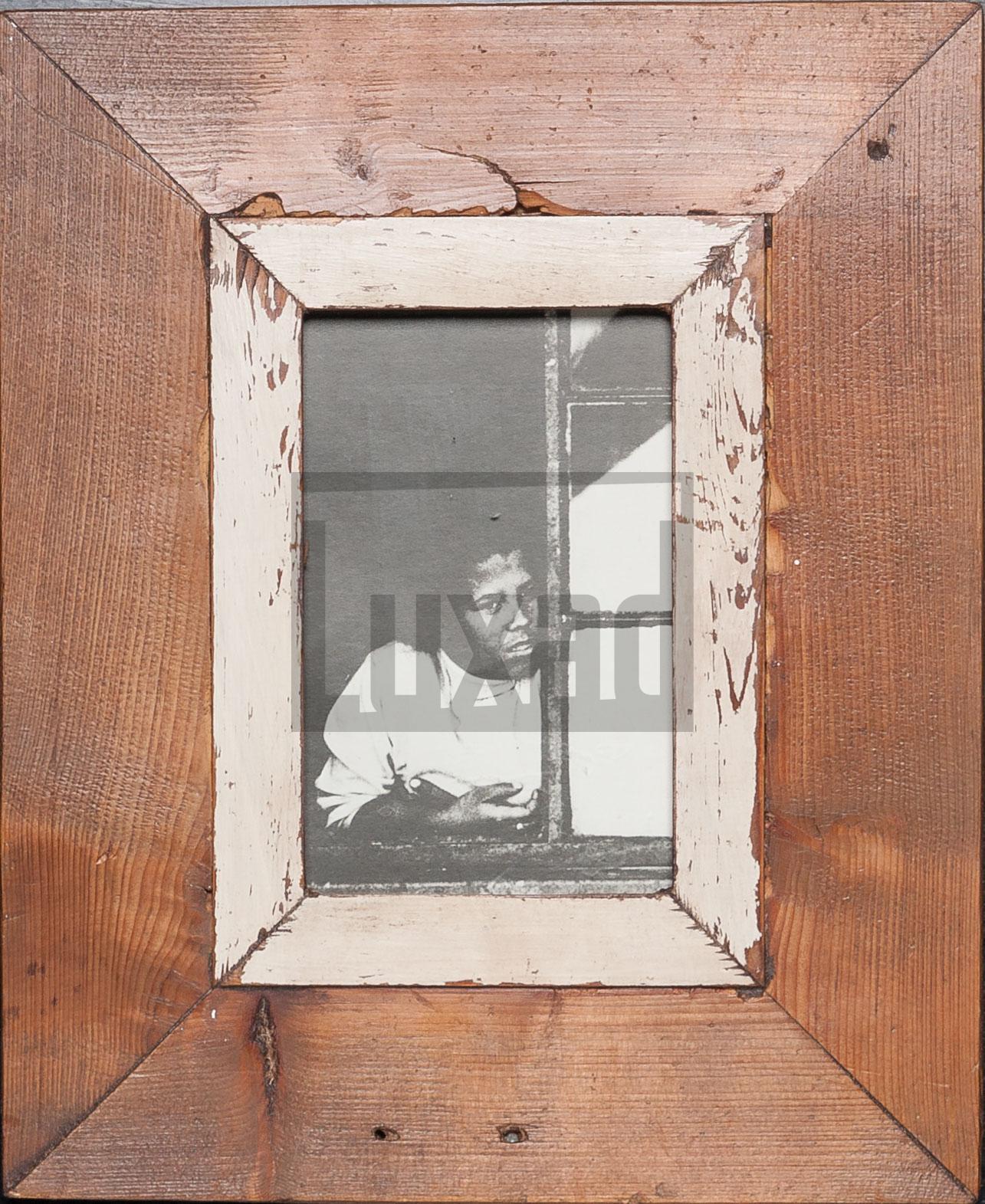 Vintage-Bilderrahmen aus altem Holz für Fotos DIN A6